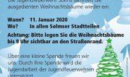 Jugendfeuerwehren der Stadt Solms sammeln Weihnachtsbäume ein