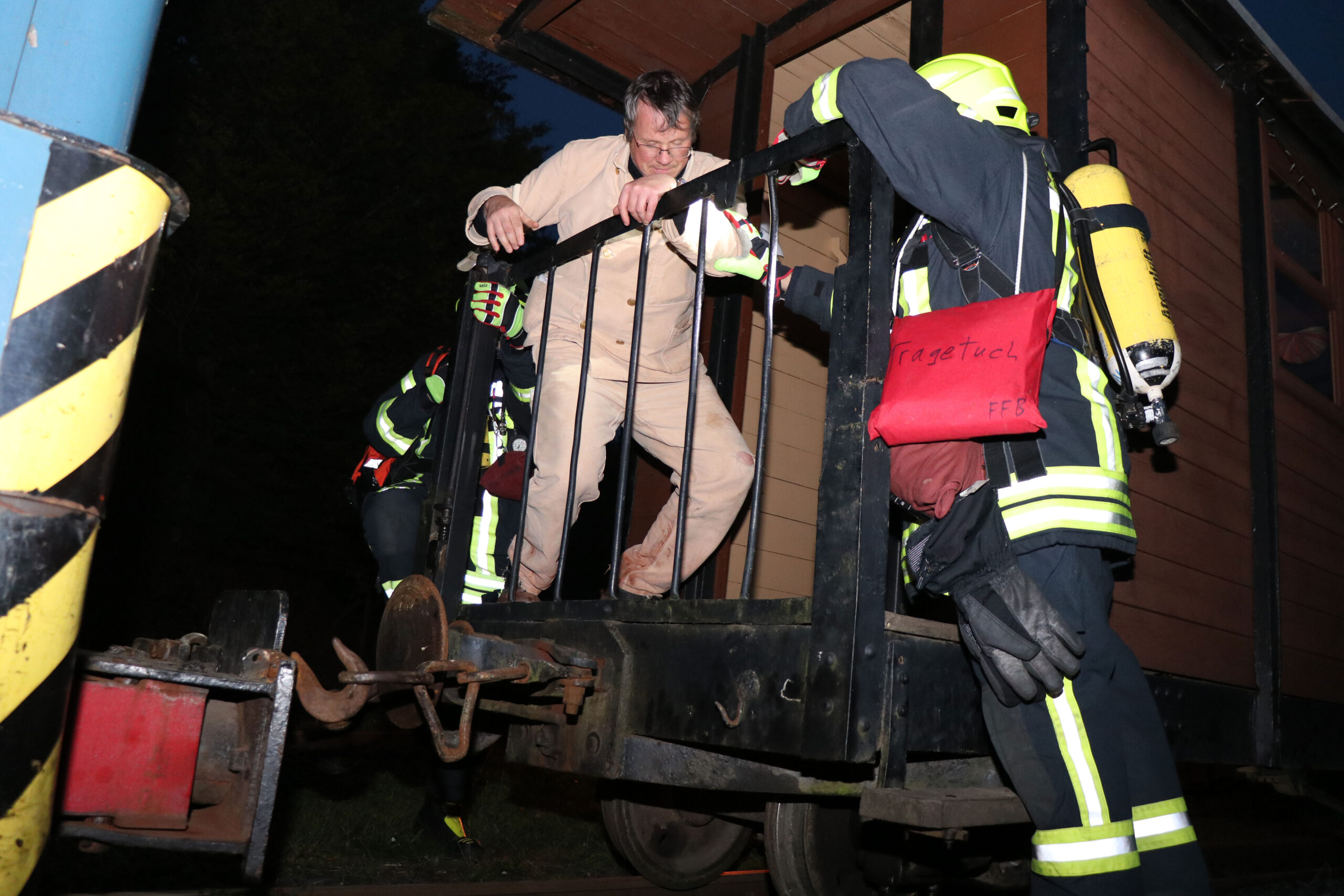Wenn die Feuerwehr zum Zug kommt